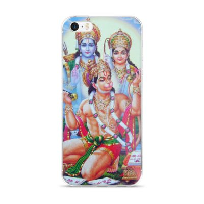 Shiva and Hanuman iPhone case
