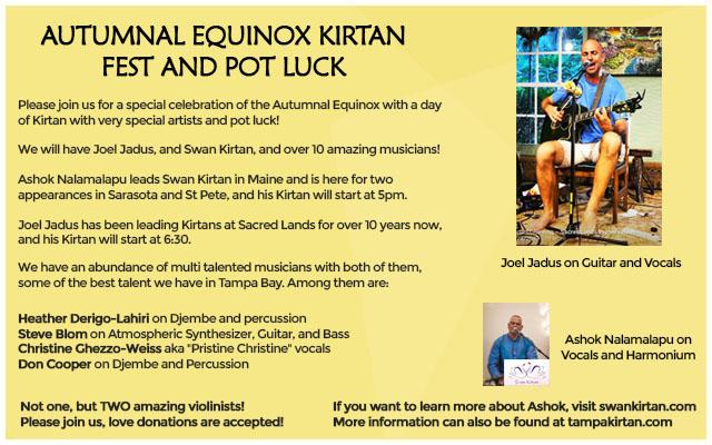 Autumnal Equinox Kirtan Fest and Pot Luck
